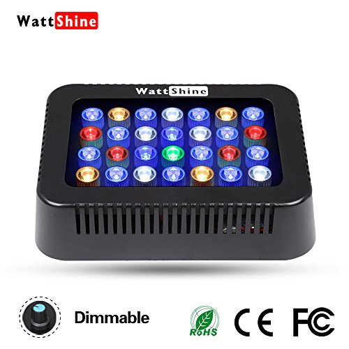 LED Aquarium Light 140W LED Coral Light Large Angle Dimmable Reef Light,Full Spectrum for Saltwater Reef,Fish,Coral,SPS,Lps Growing,White Blue Aquarium Lighting