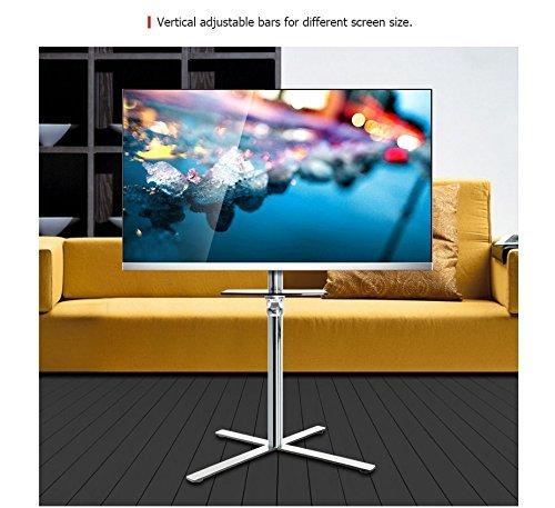 Loctek P4 Outdoor TV Cart LCD Monitor Stand Universal Rolling w/DVD Plastic Shelf for Flat Screen Monitors