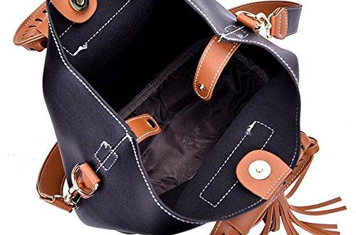 Messenger Spalla Temperamento Chaoyang Bag Black Frange Gray borse Laptop Immagine PqtTTEYw