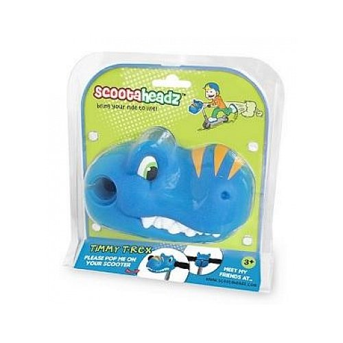 Scootaheadz Kids Dinosaur and Horses T-Bar Kick Scooter Accessory Toy,Timmy T-Rex Blue Dino by Scootaheadz