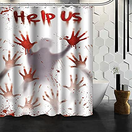 Bloody Halloween Polyester Shower Curtain