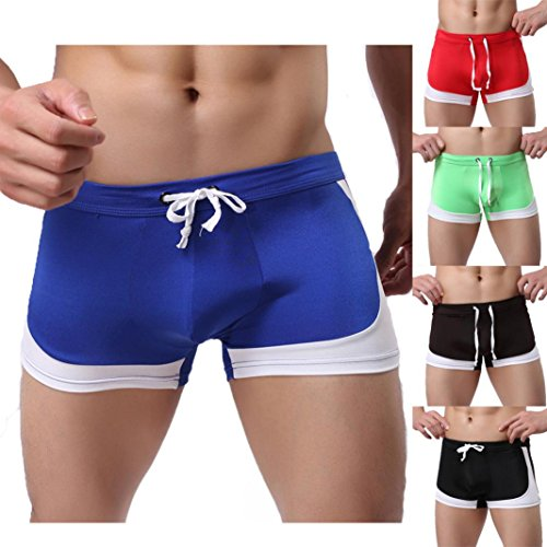 LUNIWEI Men's Boxer Briefs Swimming Swim Shorts - European Mens Bathing Suits Style