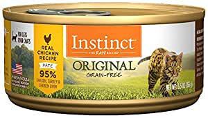 Instinct Original Grain Free Real Chicken Recipe Natural Wet Canned Cat Food by Nature's Variety, 5.5 oz. Cans (Case of 12)