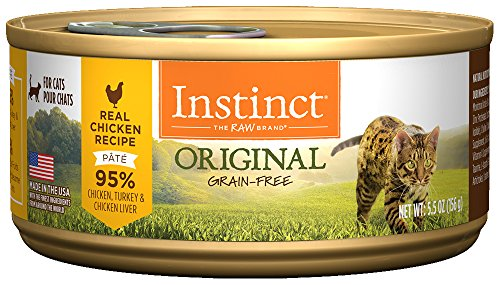 Instinct Original Grain Free Real Chicken Recipe Natural Wet Canned Cat Food by Nature's Variety, 5.5 oz. Cans (Case of 12) ()