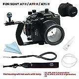 For Sony A7II A7R II A7S II [ILCE-7M2/7RM2/7SM2] 130FT/40M Underwater camera diving waterproof housing(Housing+Handle+Cover)