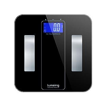 Balanza digital Lumsing inteligente analizador de cuerpo, 10 Usuarios de reconocimiento automático, medidas de