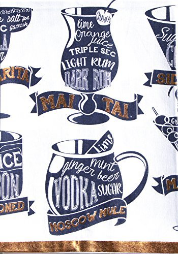 Cotton Drink Recipe Dishtowel - 18'' x 28'' (Towel Recipe)