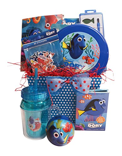 Finding Dory Christmas Gift Baskets For Kids With Stickers And Jumbo Playing Cards Perfect Christmas Gift Baskets For Kids Specially For Boys And Girls 3 To 5 Years Old