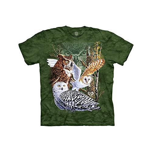 (The Mountain Find 11 Owls Child T-Shirt, Green, Small )