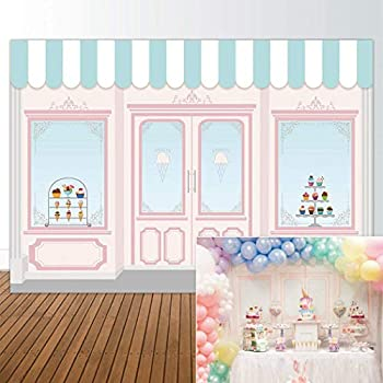 Allenjoy 7x5ft Ice Cream Parlor Shop Backdrop for Girls Baby Shower 1st First Birthday Party Sweets Table Decor Event Decorations Photo Booth Background ...