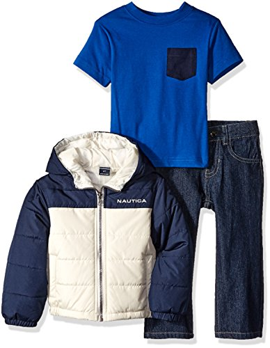 Nautica Outerwear Colorblock Puffer Jacket