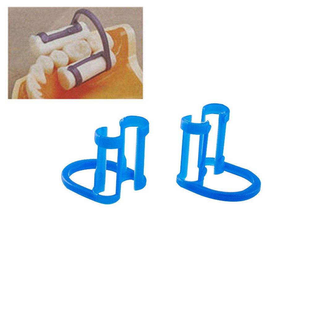 Enshey 100pcs Cotton Roll Holder Clip Disposable Dental Isolator Tool for Dental Clinic
