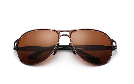 CMCL Caminante Nuevo Gafas De Sol Polarizadas Hombre Gafas De Sol Conducir Espejo, Brown Capullos