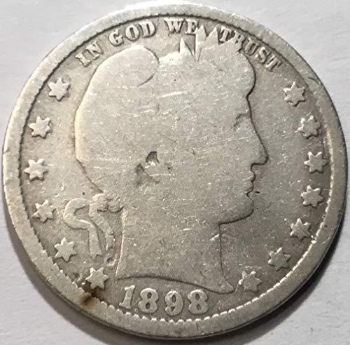1898 O Barber Quarter Quarter Good