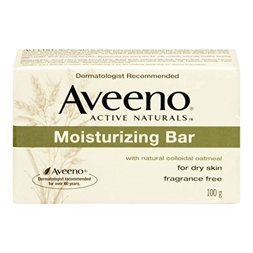 Aveeno Moisturizing Bar with Natural Colloidal Oatmeal for Dry Skin, Fragrance Free, 3 Oz (Pack of 4)