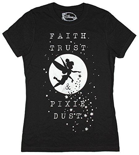 Disney Peter Pan Tinkerbell Faith Trust and Pixie Dust Juniors T-Shirt