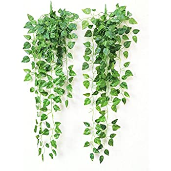 Yatim 90 CM Money Ivy Vine Artificial Plants Greeny Chain Wall Hanging  Leaves For Home Room