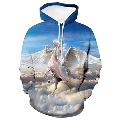 Nubes Belleza Pegaso Suéter Patrón De Impresión En 3D Jerséis ...