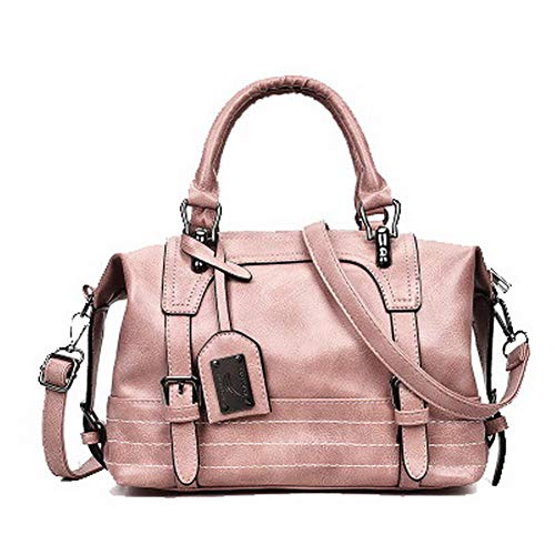 Tote Crossbody Women's Bags Pink GMDBA214281 Bags AgooLar Black Zippers Pu Casual qOFaPPtYw