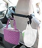 Universal Premium Car Truck Headrest Hanger Storage Hooks - Purse Handbag Grocery Bag Holder Hook - Lifetime Warranty