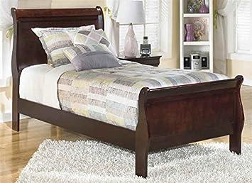 Amazon Com Ashley Express Twin Sleigh Bed In Dark Brown Finish