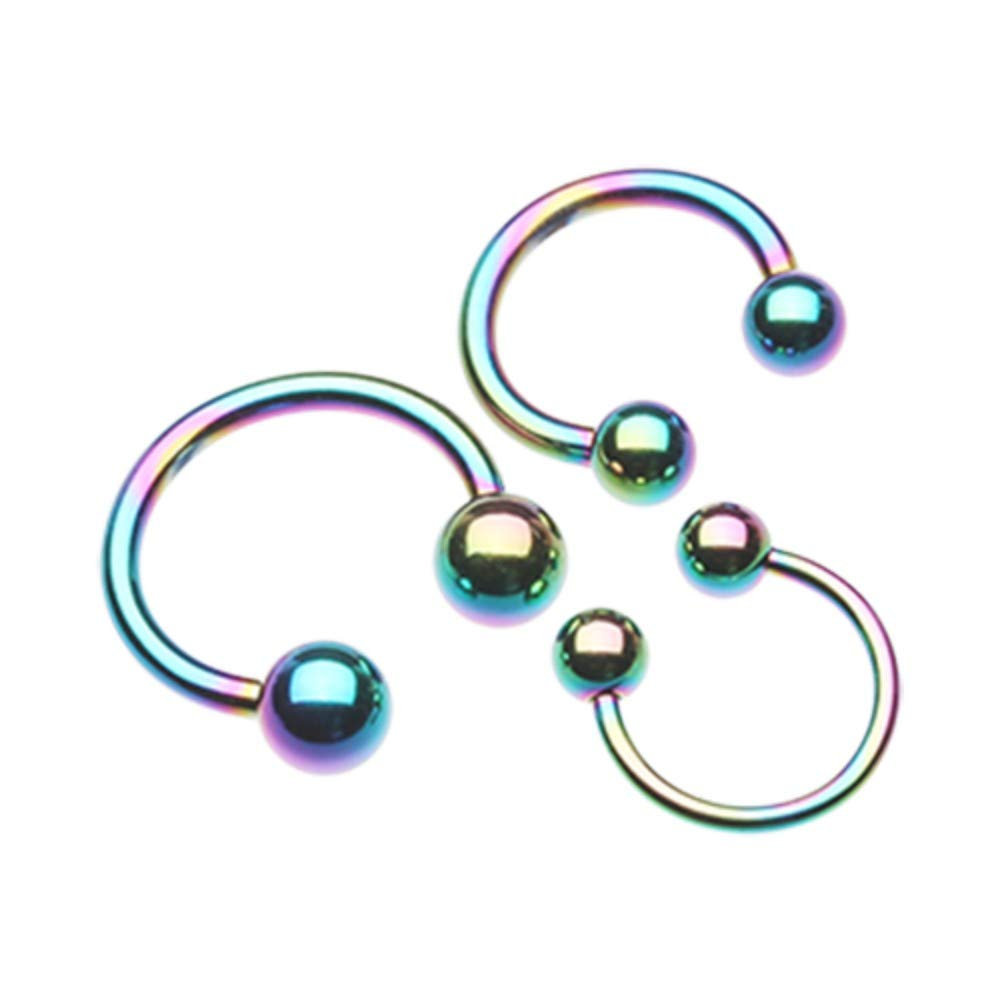 Colorline PVD Basic Horseshoe Circular Barbell 316L Surgical Stainless Steel Body Piercing Jewelry For Men And Women Davana Enterprises Sold Individually