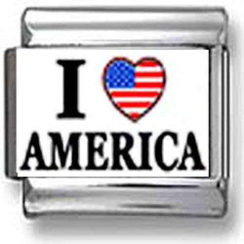 I Love America Italian charm