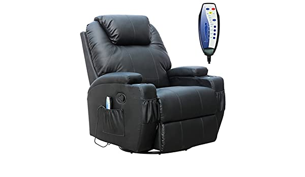 FoxHunter Cuero Masaje Cinema Sistema reclinable para sofá ...