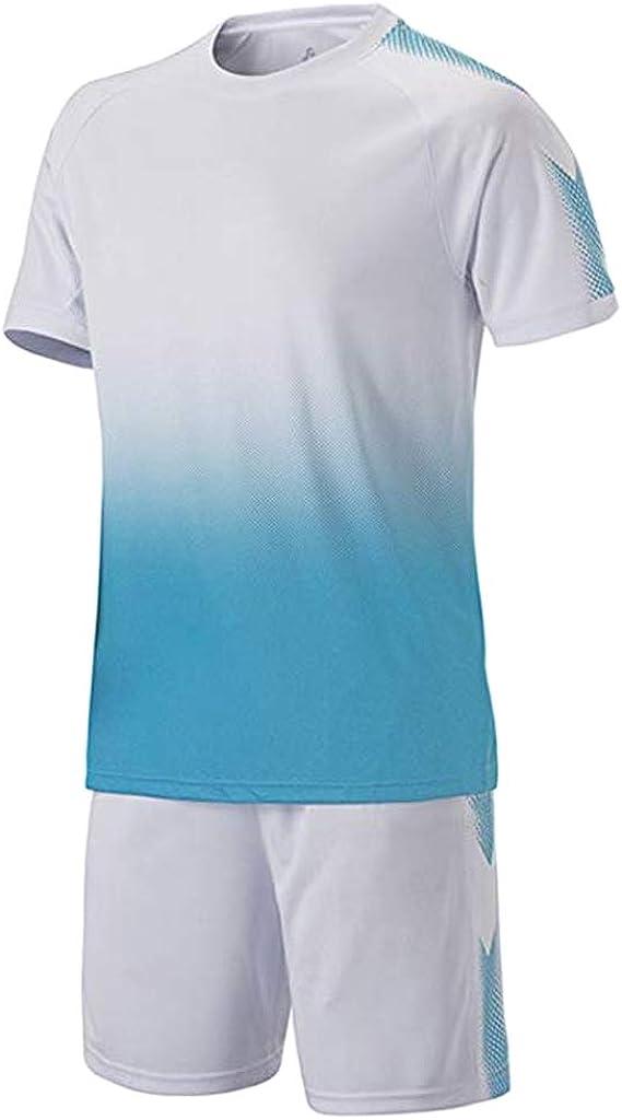 Meijunter Fútbol Formación Traje - Juventud Niños Adulto Soccer Jerseys Sportswear Camisetas + Shorts Set Competencia Uniforme Tracksuits: Amazon.es: Ropa y accesorios