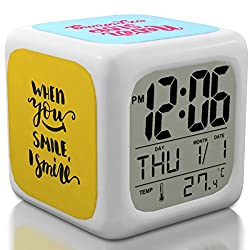 [New 2018 Upgraded Version] Positive Message Digital Alarm Clock for Kids, Teens & Adults - Get Today 100% Warranty - Fun Cool and Portable Travel Clocks Wake up Even Heavy Sleepers - Limited Edition