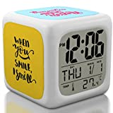 Bedroom Alarm Clock for Heavy Sleepers, Kids and Teen, Boys or Girls. Cute and Cool Bedside Digital Display Battery Operated Small Clocks for Kid Bedrooms (2019 Edition)