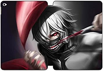 iPad Air 2 funda [Ultra Slim Folio] Kaneki Ken Máscara anime caso temático cuero