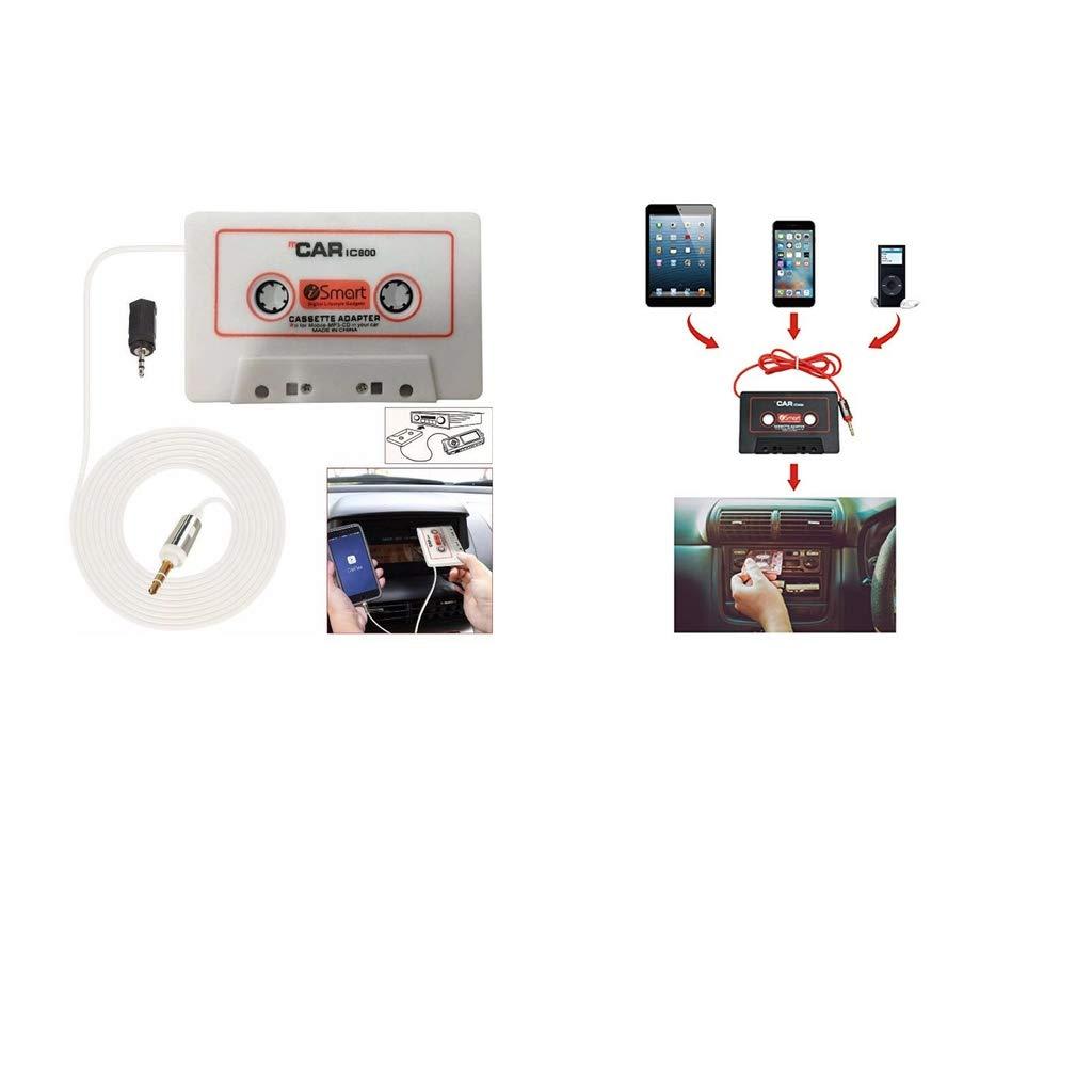 F Fityle 2pcs Adaptador de Cinta de Cassette de Audio del Coche con Cable de Audio de 3.5mm Puerto