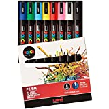 Uni Posca Paint Marker Pen, Medium Point, Set of 8 (PC-5M8C)