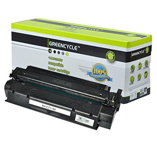 1200se Printer (greencycle 1 Pack Black Toner Cartridge For HP C7115X 15X LaserJet 1200se 1200n 3320 3330)