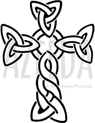 A4 Celtic Cross Wall Stencil Template WS00032999