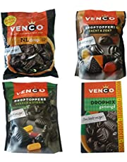 Venco Licorice | Dutch Licorice | 4 Bags of Different Venco Dutch Liquorice | Dutch Liquorice | Custom Variety Pack of 4 Products | 52.87 Ounce Total Weight