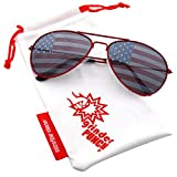Best grinderPUNCH Sunglasses For Men - grinderPUNCH American Flag Aviator Sunglasses Glasses Red Color Review