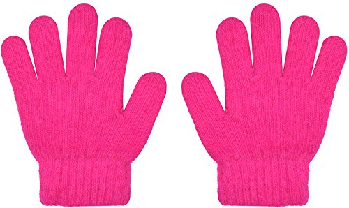 Knitted Kids Winter Gloves Wool Stretchy Magic Glove For Girls Boys Solid Color