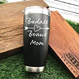 Badass Bonus Mom Tumbler Badass Step Mom tumbler Mothers Day Gift Coffee Drinker Gift For Step Mom Who Drinks Coffee Gift For Bonus Mom