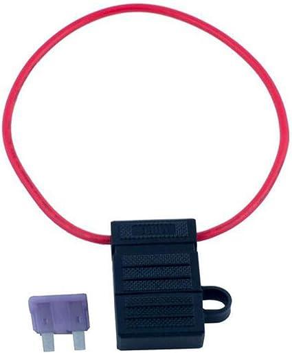 Blesiya 3 Pcs In Line Fuse Holder Power Cable Loop Car Amplifier Waterproof