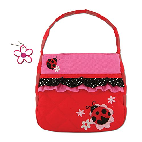 Plush Little Ladybug (Stephen Joseph Girls Quilted Ladybug Purse and Flower Charm)