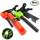 Cheap AnimaMiracle Magnesium Fire Starter Camping Stove Accessories Kitchen,Home,Camping,Backpacking,Hiking Survival Gear, Bushcraft Swedish FireSteel Compass 15K+ Strike Fire Rod Novel Toys Childrens