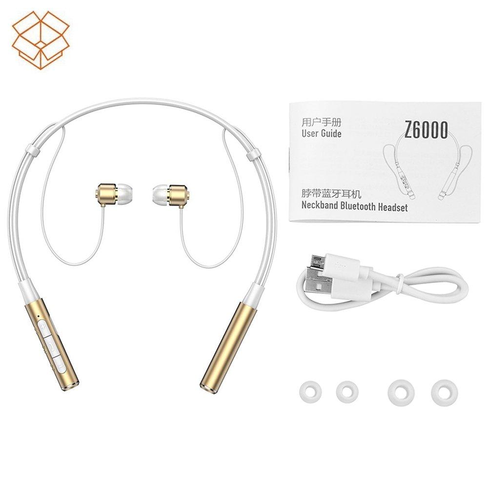 Amazon.com: Roman Z6000 Wireless 4.1 Bluetooth Sport Headphone Neckband  in-Ear Stereo Earphone with Microphone Sweatproof Hands Free Headset Noise  ...