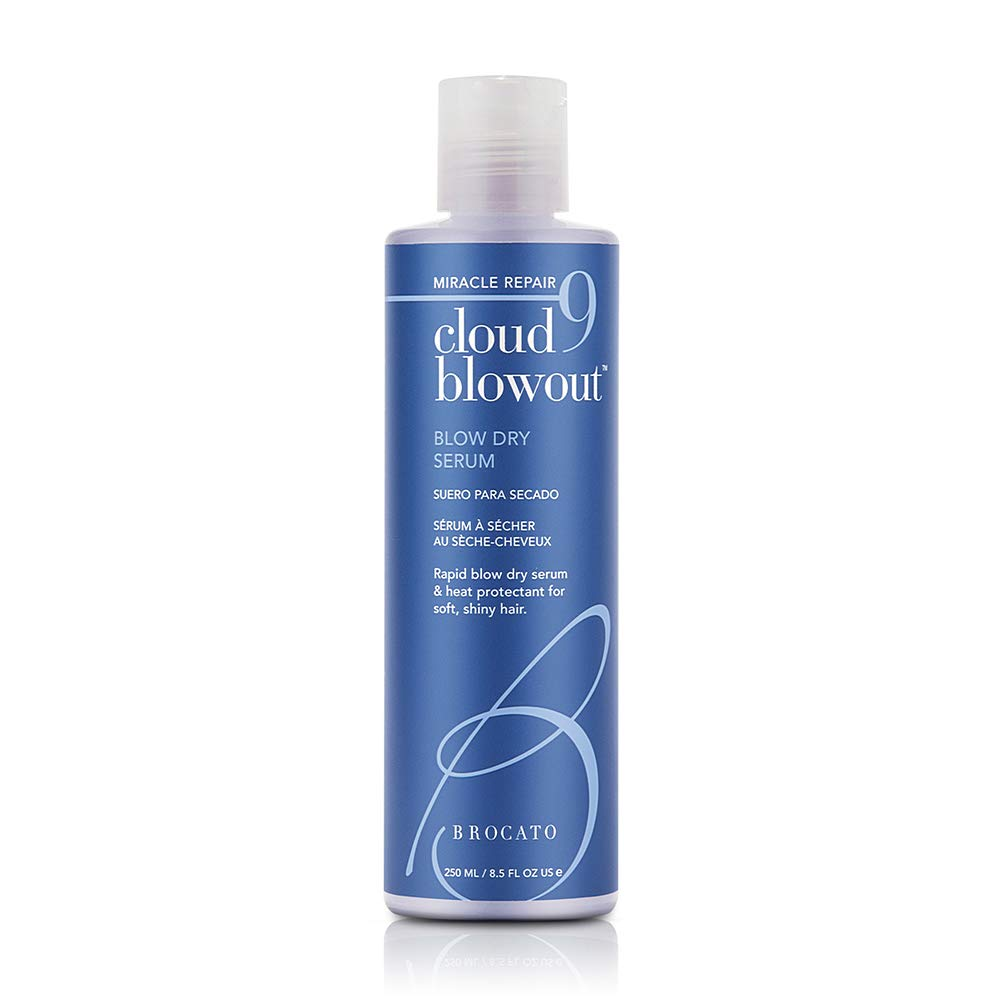 Brocato Cloud 9 Blow Dry Serum: Heat Protectant Blowout Cream Conditioner for Smoothing Shine - Blow Out Balm for Women with Thermal Styling and Straightening Protection for Smoother Hair - 8.5 Oz