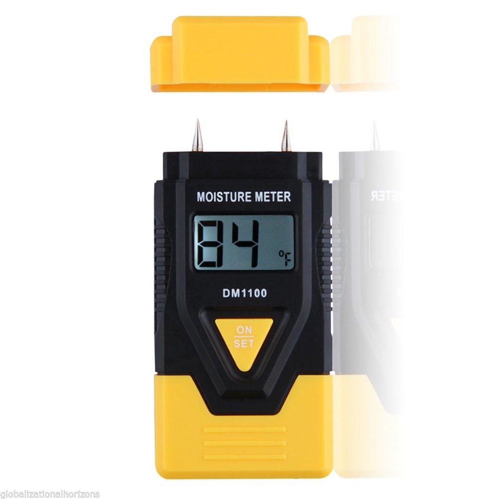 UKCOCO LCD Display Digital Wood Moisture Meter, 3 in 1 Hygrometer Humidity Detector Tester Sensor for Wood Firewood, Paper, Cardboard, Hardened Materials