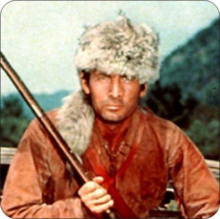Davy Crockettのコルク裏地付きコースター4枚セット   B07FZ9KWD5