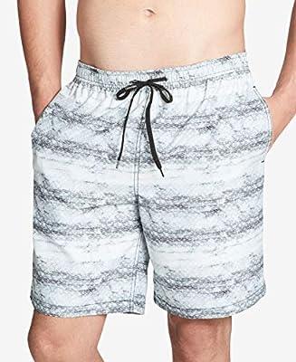 Calvin Klein Mens Large Drawstring Trunks Swimwear Gray L