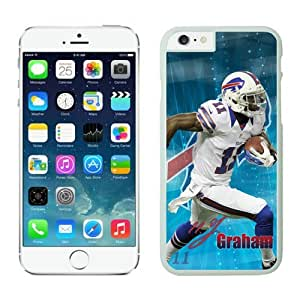 Buffalo Bills TJGraham Case For iPhone 6 Plus White 5.5 inches