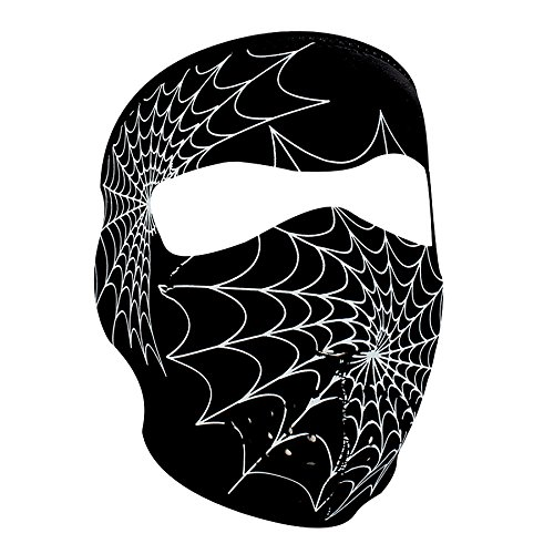 ZANheadgear Neoprene Glow in the Spiderweb Face Mask